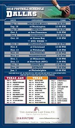 FREE 2016 Dallas Cowboy Football Schedule Magnet