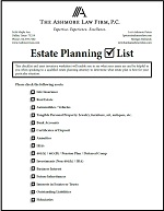 Worksheets Estate Planning Worksheet estate planning checklist and asset inventory worksheet the ashmore law firm p c